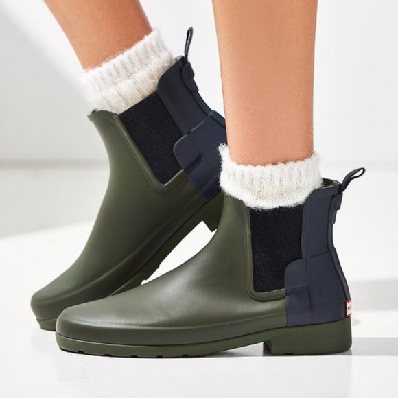sports shoes cheap prices for whole family Hunter Original Refined Chelsea Boot Navy/Olive